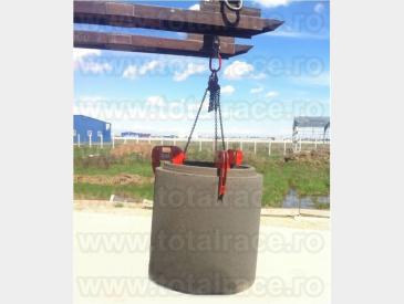 Lanturi cu 3 ramuri si clesti ridicat tuburi sisteme de canalizare  - 5