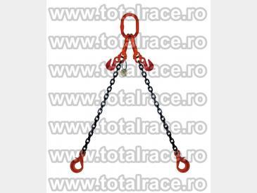 Dispozitive de ridicare din lant cu 2 brate cu carlige rotative cu siguranta - 4